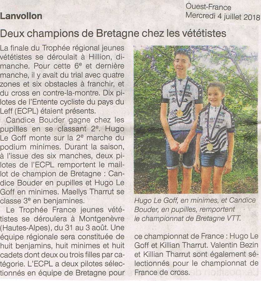Ouest France - 04/07/2018